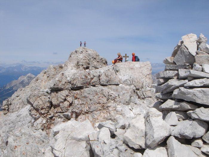 Foto: Manfred Karl / Klettersteig Tour / Via ferrata Marino Bianchi / Gipfelrast / 13.09.2008 14:54:33