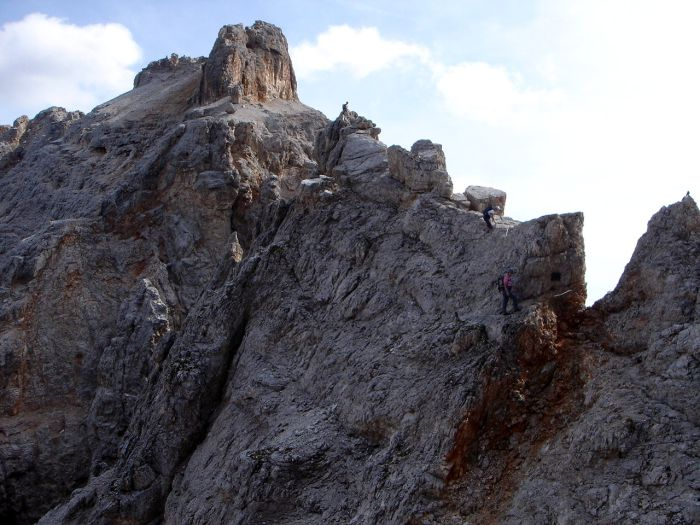 Foto: Manfred Karl / Klettersteig Tour / Via ferrata Marino Bianchi / Nordwestgrat des Cristallo di Mezzo / 13.09.2008 14:49:22