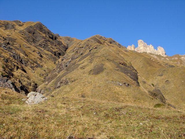 Foto: Manfred Karl / Klettersteig Tour / Laurenzisteig auf den Mittleren Molignon / Oberhalb vom Rifugio Dialer / 14.09.2008 11:42:34