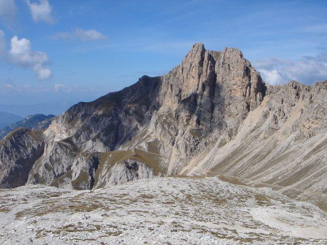 Foto: Manfred Karl / Klettersteig Tour / Laurenzisteig auf den Mittleren Molignon / Roterdspitze vom Weg zum Molignonpass / 14.09.2008 11:39:20