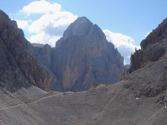 Foto: Manfred Karl / Klettersteig Tour / Laurenzisteig auf den Mittleren Molignon / Formschöner Gipfel: Der Kesselkogel / 14.09.2008 11:37:28