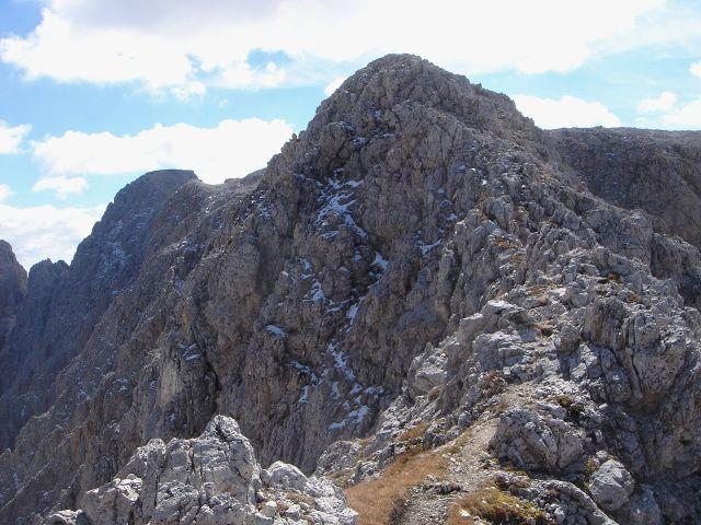 Foto: Manfred Karl / Klettersteig Tour / Laurenzisteig auf den Mittleren Molignon / Am Weg zum Nordwestl. Molignon, auch hier ist der Grat stellenweise schmal / 14.09.2008 11:36:32