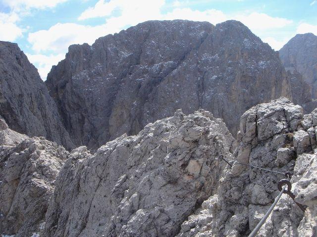 Foto: Manfred Karl / Klettersteig Tour / Laurenzisteig auf den Mittleren Molignon / Blick zum Kesselkogel / 14.09.2008 11:32:26
