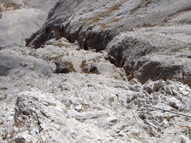 Foto: Manfred Karl / Klettersteig Tour / Laurenzisteig auf den Mittleren Molignon / Kurz oberhalb des Endes vom Abstiegsklettersteig / 14.09.2008 11:20:31