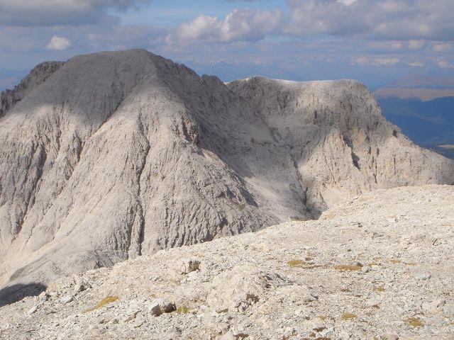 Foto: Manfred Karl / Klettersteig Tour / Laurenzisteig auf den Mittleren Molignon / Antermoiakogel von der Cima de Laussa / 14.09.2008 11:14:45