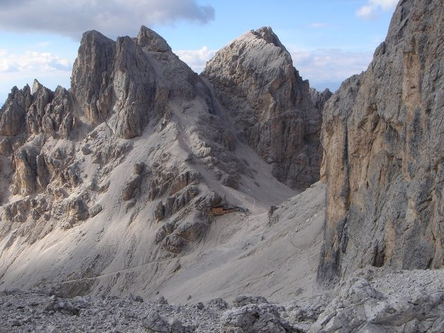 Foto: Manfred Karl / Klettersteig Tour / Laurenzisteig auf den Mittleren Molignon / Der Rückweg führt rund um den Kesselkogel zur Grasleitenpasshütte / 14.09.2008 11:07:37