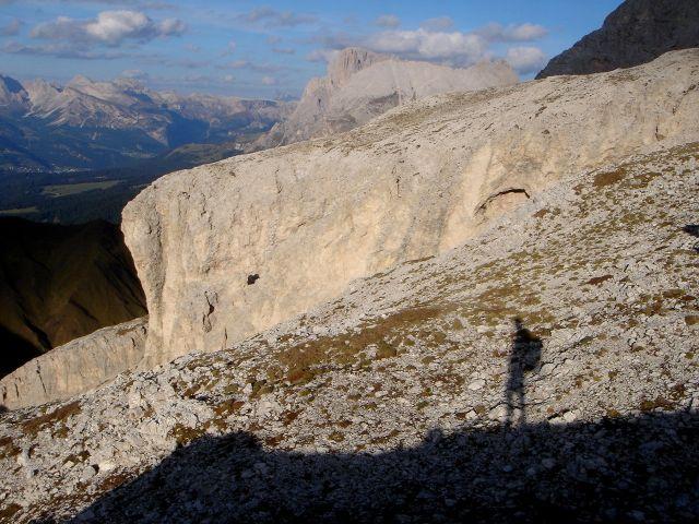 Foto: Manfred Karl / Klettersteig Tour / Laurenzisteig auf den Mittleren Molignon / Abendstimmung gegen Platt- und Langkofel / 14.09.2008 10:58:58
