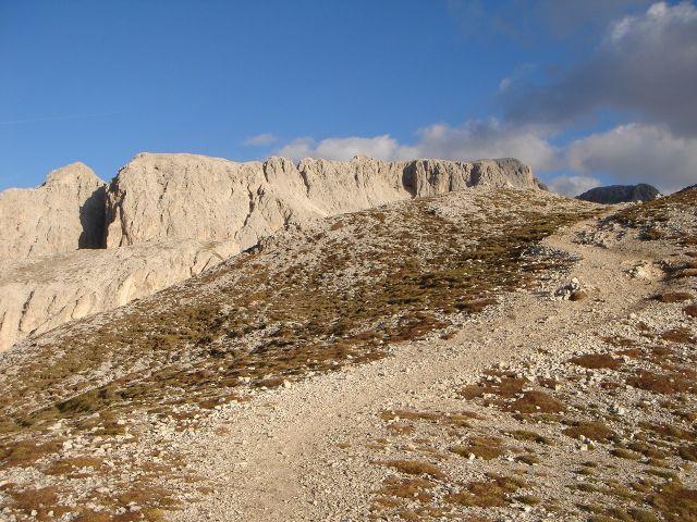 Foto: Manfred Karl / Klettersteig Tour / Laurenzisteig auf den Mittleren Molignon / Rückblick zum Molignongrat / 14.09.2008 10:58:29