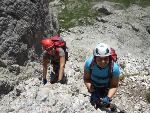 Foto: hofchri / Klettersteig Tour / Via ferrata Piz da Lech / kurz nach dem Einstieg / 03.10.2009 18:26:36