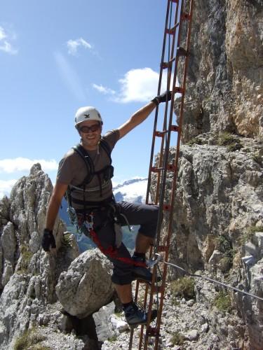 Foto: hofchri / Klettersteig Tour / Via ferrata Piz da Lech / die Leiternpassage / 03.10.2009 18:26:53