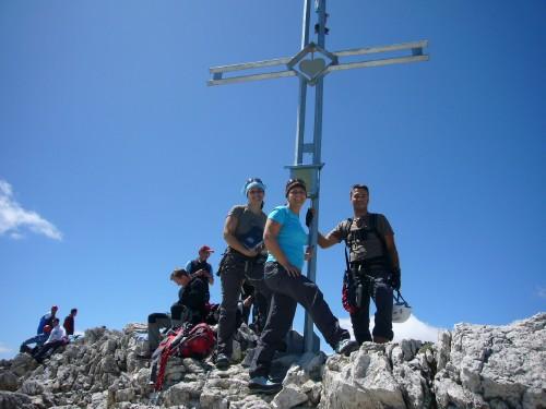 Foto: hofchri / Klettersteig Tour / Via ferrata Piz da Lech / Gipfelkreuz Boéseekofel (2908 m) / 03.10.2009 18:28:57