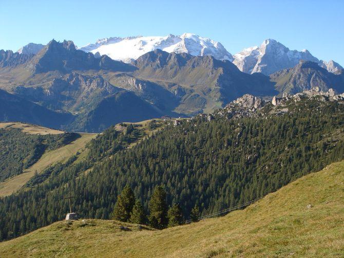Foto: Manfred Karl / Klettersteig Tour / Via ferrata Piz da Lech / Marmolada vom Crep de Munt / 14.09.2008 19:15:33
