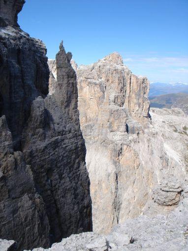 Foto: Manfred Karl / Klettersteig Tour / Via ferrata Piz da Lech / Cima Pisciadu / 14.09.2008 19:11:24