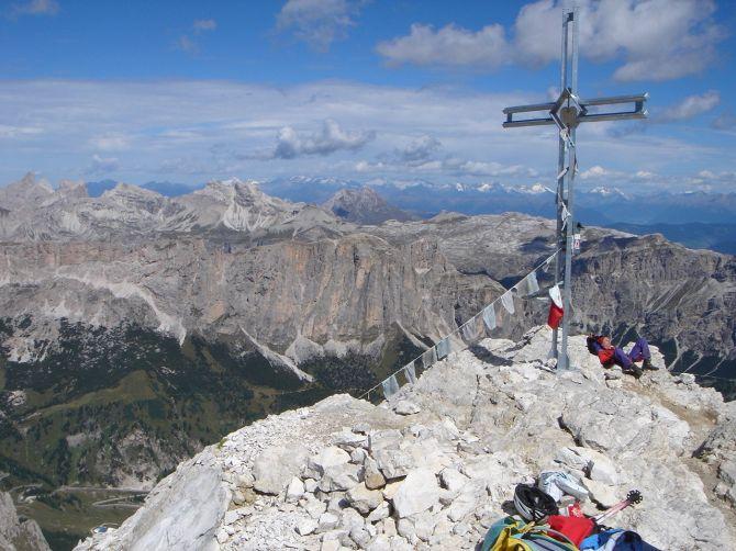 Foto: Manfred Karl / Klettersteig Tour / Via ferrata Piz da Lech / Blick vom Gipfel nach Norden / 14.09.2008 19:08:52