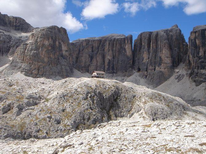 Foto: Manfred Karl / Klettersteig Tour / Via ferrata Piz da Lech / Kuffnerhütte mit Neuner und Zehner / 14.09.2008 19:01:23