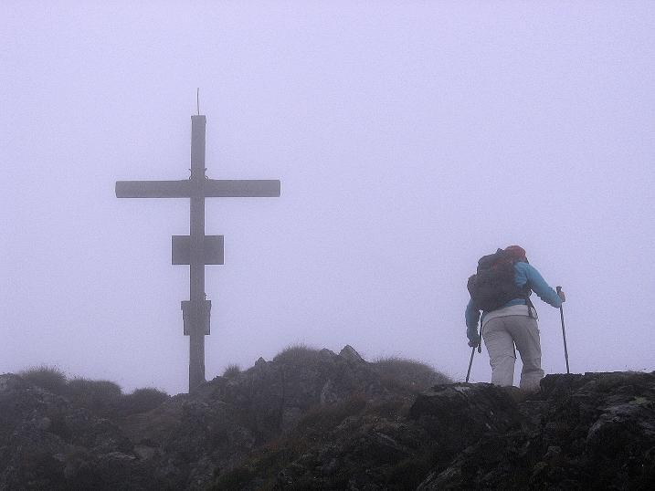 Foto: Andreas Koller / Wander Tour / Kammtour über dem Sölkpass (2284 m) / Die letzten Meter auf die Hornfeldspitze / 13.09.2008 23:29:45