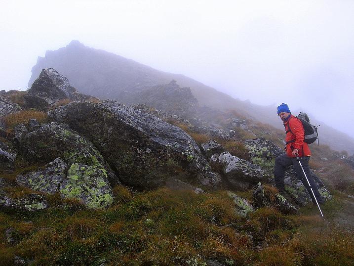 Foto: Andreas Koller / Wander Tour / Kammtour über dem Sölkpass (2284 m) / Steiler, schrofiger Aufschwung zur Aarfeldspitze / 13.09.2008 23:27:35