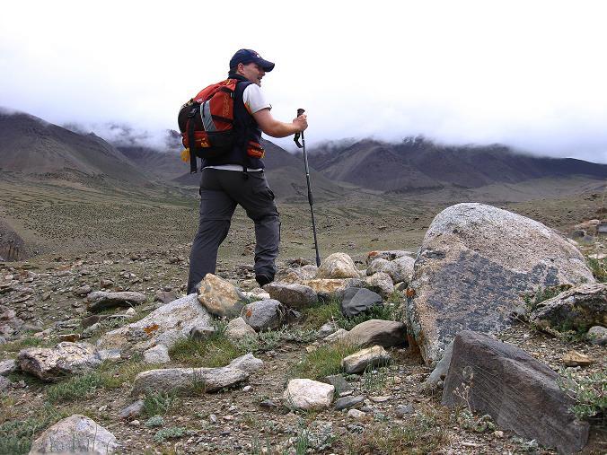 Foto: Andreas Koller / Wander Tour / Von Tachuntse auf den Nimaling Ri (5648m) / Anstieg nach Nimaling / 14.09.2008 00:27:43