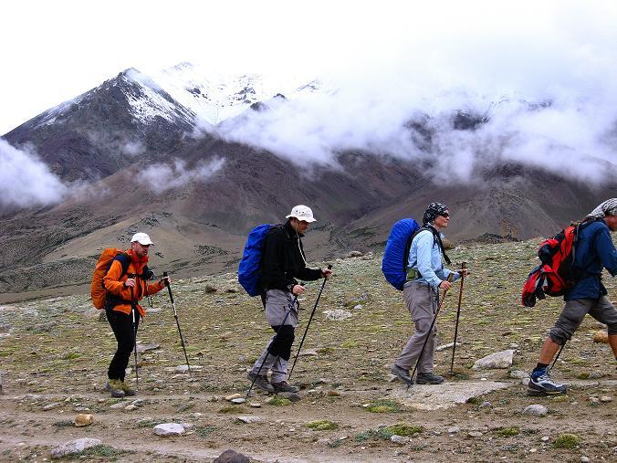 Foto: Andreas Koller / Wander Tour / Von Tachuntse auf den Nimaling Ri (5648m) / Trekking im Nimaling-Hochtal / 14.09.2008 00:26:45