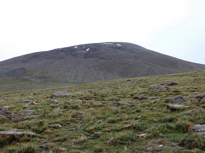 Foto: Andreas Koller / Wander Tour / Von Tachuntse auf den Nimaling Ri (5648m) / Zu flach erscheint hier der Anstieg auf den Nimaling Ri / 14.09.2008 00:25:51