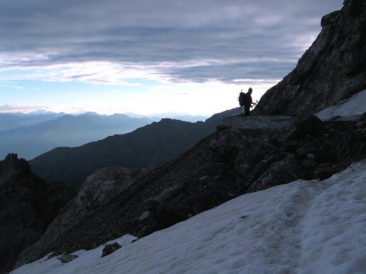Foto: Andreas Koller / Wander Tour / König Ortler (3905m) / Eistieg zum Ortlerferner / 14.09.2008 01:25:10