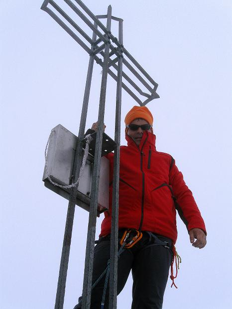 Foto: Andreas Koller / Wander Tour / König Ortler (3905m) / Am Ortler-Gipfel / 14.09.2008 01:21:42