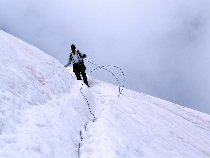 Foto: Andreas Koller / Wander Tour / König Ortler (3905m) / Steiles Eis beim Bärenloch / 14.09.2008 01:19:40