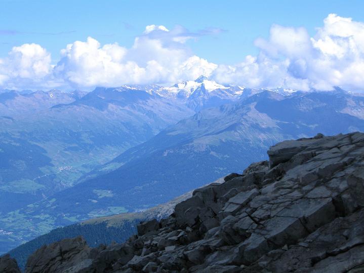 Foto: Andreas Koller / Wander Tour / König Ortler (3905m) / Ausblick nach N zur Weißkugel (3739 m) / 14.09.2008 01:17:58