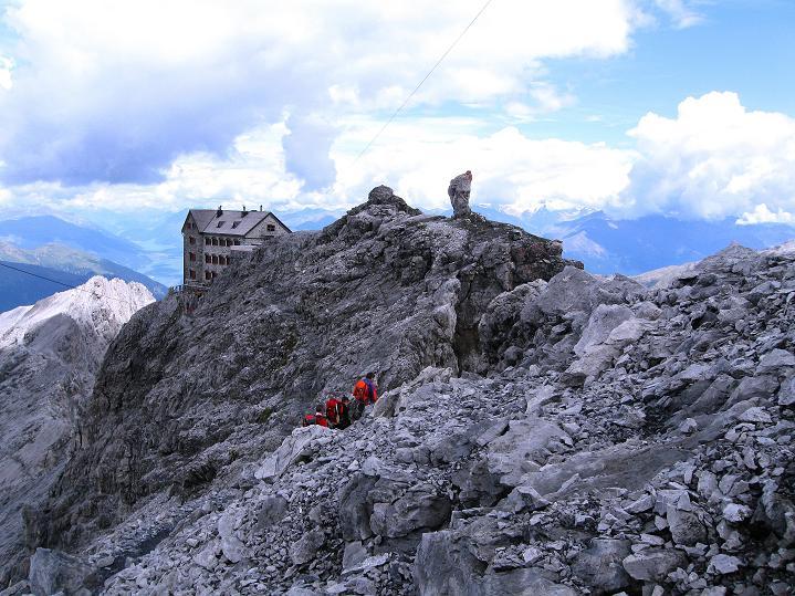 Foto: Andreas Koller / Wander Tour / König Ortler (3905m) / Payerhütte bei der Rückkehr / 14.09.2008 01:15:08