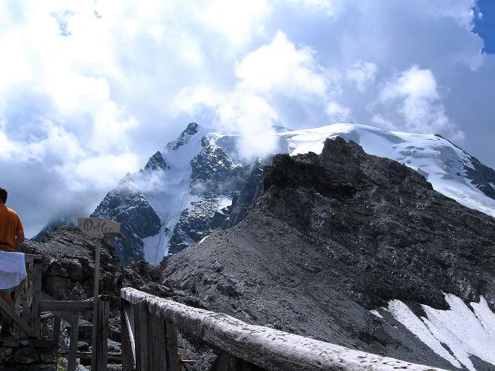 Foto: Andreas Koller / Wander Tour / König Ortler (3905m) / Ortler von der Payerhütte / 14.09.2008 01:14:29
