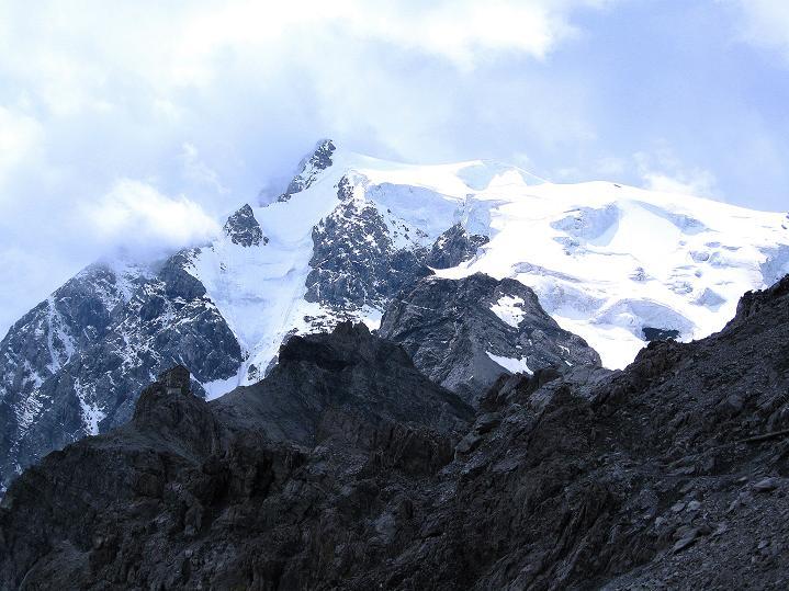 Foto: Andreas Koller / Wander Tour / König Ortler (3905m) / Payerhütte und Ortler / 14.09.2008 01:13:42