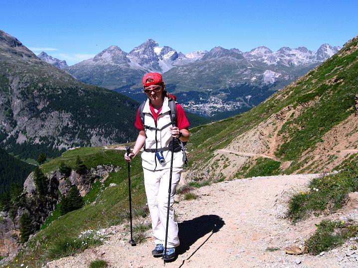 Foto: Andreas Koller / Wander Tour / Piz Languard (3262m) - Bernina-Aussichtsloge  / Aufstieg von der Alp Languard / 14.09.2008 17:13:46