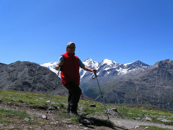 Foto: Andreas Koller / Wander Tour / Piz Languard (3262m) - Bernina-Aussichtsloge  / Im Banne der Bernina Eisriesen / 14.09.2008 17:12:27