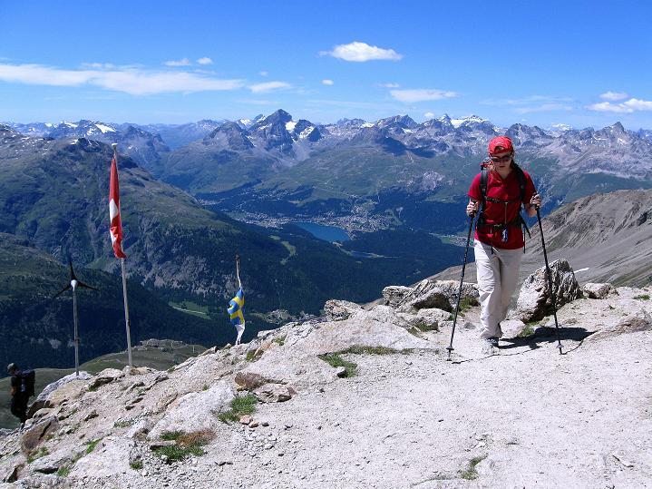Foto: Andreas Koller / Wander Tour / Piz Languard (3262m) - Bernina-Aussichtsloge  / Bei der Georgy Hütte / 14.09.2008 17:09:03