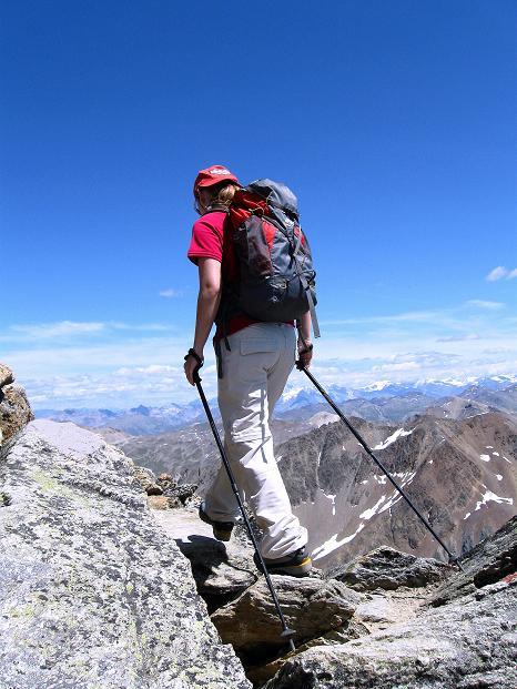 Foto: Andreas Koller / Wander Tour / Piz Languard (3262m) - Bernina-Aussichtsloge  / Trittsicherheit ist im Gipfelbereich notwendig / 14.09.2008 17:07:43