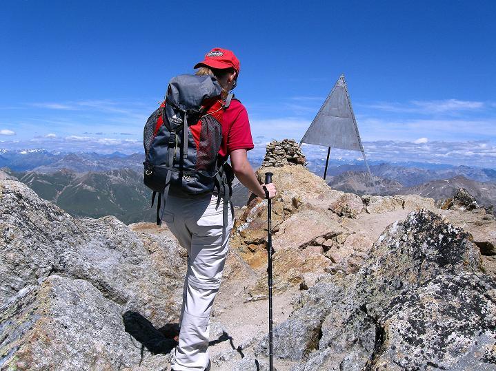 Foto: Andreas Koller / Wander Tour / Piz Languard (3262m) - Bernina-Aussichtsloge  / Die letzten Meter zum Gipfel / 14.09.2008 17:07:25