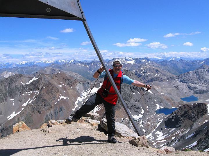 Foto: Andreas Koller / Wander Tour / Piz Languard (3262m) - Bernina-Aussichtsloge  / Am Gipfel / 14.09.2008 17:06:47