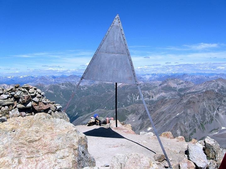 Foto: Andreas Koller / Wander Tour / Piz Languard (3262m) - Bernina-Aussichtsloge  / Das Gipfelzeichen / 14.09.2008 17:06:13