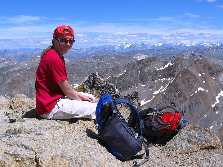 Foto: Andreas Koller / Wander Tour / Piz Languard (3262m) - Bernina-Aussichtsloge  / Rast am Gipfel / 14.09.2008 17:06:01