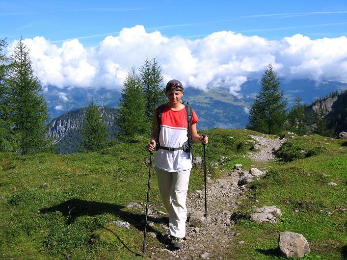 Foto: Andreas Koller / Klettersteig Tour / Klettersteig Ari Schübel (2772 m) / Aufstieg zur Karlsbader Hütte / 14.09.2008 17:56:25