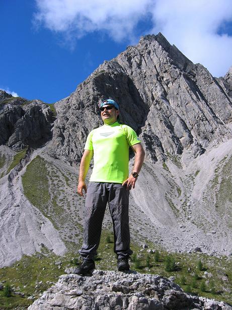 Foto: Andreas Koller / Klettersteig Tour / Klettersteig Ari Schübel (2772 m) / Rast unter der Gamswisenspitze (2488 m) / 14.09.2008 17:55:52