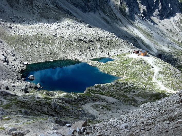 Foto: Andreas Koller / Klettersteig Tour / Klettersteig Ari Schübel (2772 m) / Laserzsee und Karlsbader Hütte / 14.09.2008 17:53:27
