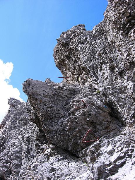 Foto: Andreas Koller / Klettersteig Tour / Klettersteig Ari Schübel (2772 m) / Einstieg Ari Schübel im Schartenschartl / 14.09.2008 17:52:54