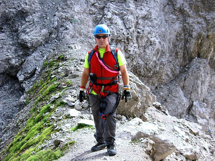 Foto: Andreas Koller / Klettersteig Tour / Klettersteig Ari Schübel (2772 m) / Im Schartenschartl / 14.09.2008 17:52:37