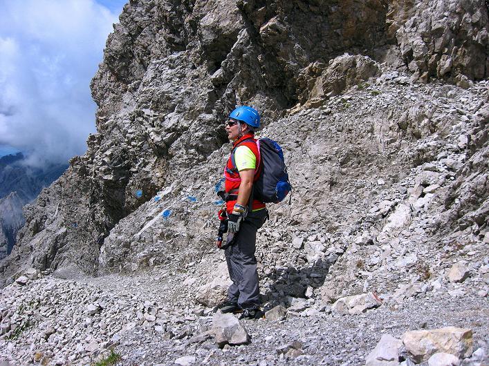 Foto: Andreas Koller / Klettersteig Tour / Klettersteig Ari Schübel (2772 m) / Querung unterhalb der Kleinen Sandspitze / 14.09.2008 17:51:47