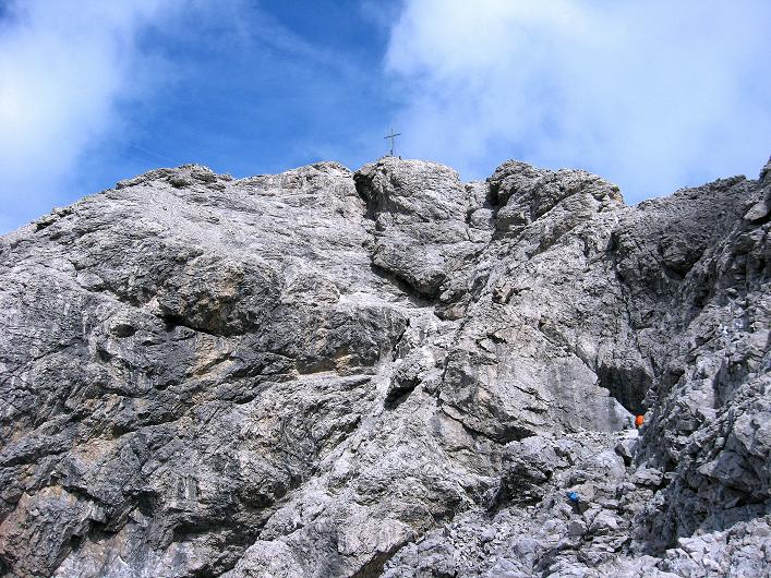 Foto: Andreas Koller / Klettersteig Tour / Klettersteig Ari Schübel (2772 m) / Gipfelaufbau Große Sandspitze / 14.09.2008 17:50:39