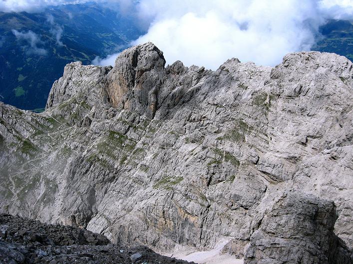 Foto: Andreas Koller / Klettersteig Tour / Klettersteig Ari Schübel (2772 m) / Blick zum Roten Turm (2702 m) und zur Laserzwand (2614 m) / 14.09.2008 17:49:14