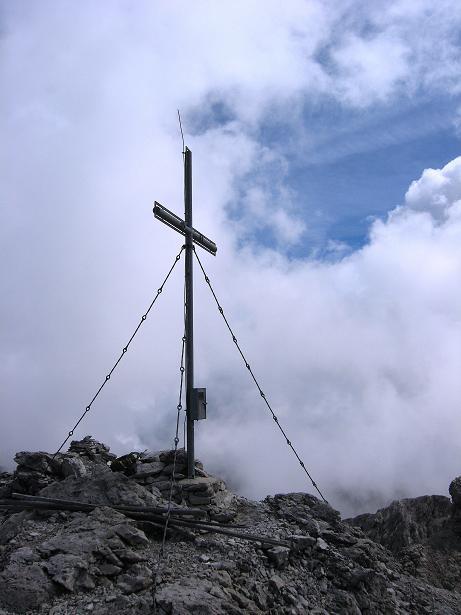 Foto: Andreas Koller / Klettersteig Tour / Klettersteig Ari Schübel (2772 m) / Große Sandspitze Gipfelkreuz / 14.09.2008 17:47:09