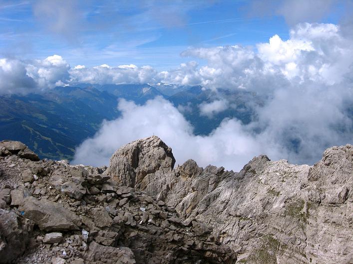 Foto: Andreas Koller / Klettersteig Tour / Klettersteig Ari Schübel (2772 m) / Über den Roten Turm (2702 m) nach NW / 14.09.2008 17:46:53