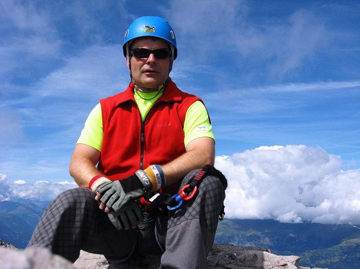 Foto: Andreas Koller / Klettersteig Tour / Klettersteig Ari Schübel (2772 m) / Am Gipfel / 14.09.2008 17:46:08